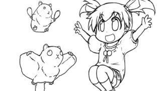小動物と萌愛 塗り絵